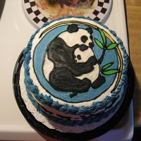 Pandabear/baby I made this for my daughter's birthday party using the frozen buttercream technique. It was a lot of fun and I'm finally getting...