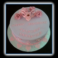 Princess Cake Princess cake for a little princess turning 4. all edible. Tiara and roses are made out of gumpaste.