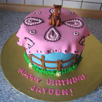 Horse Birthday Cake The birthday boy wanted a horse-themed cake and his favorite color was pink. This was my first attempt at modeling anything. The horse,...