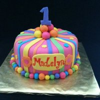 1St Birthday Cake WASC cake with strawberry filling and buttercream and covered in MMF. The name was painted on the MMF placard. I also made a smash cake for...