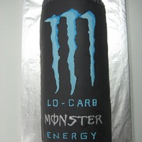 Monster Energy Drink This was a cake for a going away BBQ. The guy's favorite drink is low carb monster energy drink. It is a carrot cake with cream cheese...