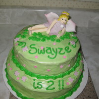 2Nd Bday Fairy Cake This little fairy doesn't look all the comfortable, does she? But with all that was going on that week for Grandma, she just had to do...