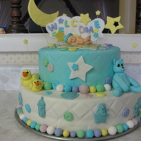 Shower Cake Thanks to sugarcakes and tutorial on CC for the ideas. This was a fun cake to make and she loved it.