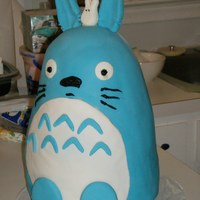 My Neighbor Totoro For my niece's birthday. She loves Totoro and fondant, the feet, ears, and tail (which you can't see in the pic) were all made...