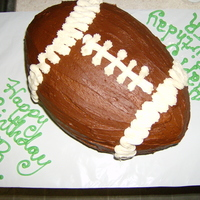 Football My nephew's birthday cake, he plays football