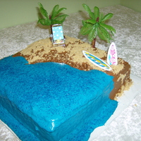 Beach Cake birthday cake for a pool party