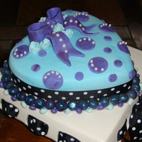 Polka Dot Cake A fun little Sunday activity with my 5 year old -- the next cake artist in the making. Thanks for looking :)