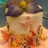 Painting On Cakes & Flower Making Class This is the result of two different classes with Zane & Norm on the Cake Cruise. So much fun!!!