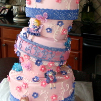 Fairy Tea Party My largest cake yet -- made for my daughter's 6th birthday party! Fun, Fun, Fun