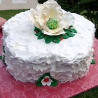Magnolia Flower Quick cake made for a holiday party.