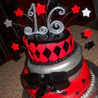 Lady In Red Sweet 16Th Cake