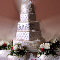 Wedding Cake Dominican Cake flavor with fondant