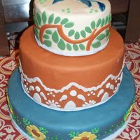 Talavera Wedding Cake The bride and groom love Talavera pottery and tiles from Mexico. Their wedding and reception was at an upscale Mexican restaurant so I did...