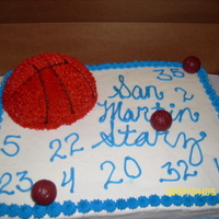 S M basketball team cake