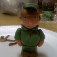 Jes Soldier  I made this little soldier for a young lady that has been in R .O.T.C in high school and will be graduating and going to a military...