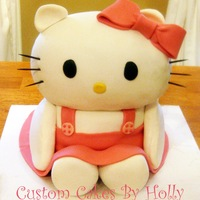 Hello Kitty Cake 3D Hello Kitty Cake I made for my birthday!