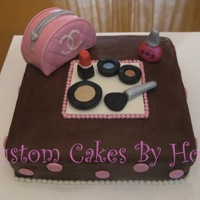 Makeup Cake For Makeup Birthday Party!