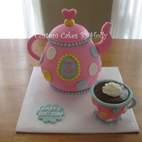 Teapot Cake For Tea Party Birthday