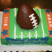 Football Field I made this cake for my son & father in-law, since they share a birthday. Football is RKT.