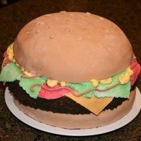 Cheeseburger Cake My son needed a cake for his Blue & Gold Banquet, so this is what we came up with. I was actually shocked at how this turned out, being...