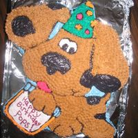 Dog This was a cake I did for my Father in law. The cake was sugar free. I used sugar free cake mix & made my was buttercream but I...