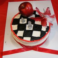 Twilight I put something from each book in the series. I used a real apple. The icing is buttercream & the cake was red velvet. It was a fun...