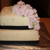 Rose & Ribbon Cake