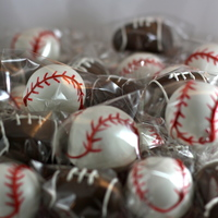 Baseball & Football Cake Pops