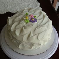 Vanilla Whipped Pillow Top Cake I love the way the home made whipped topping looks so soft and fluffy.
