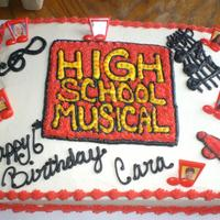 High School Muscical Cake whit cake with butter cream icing
