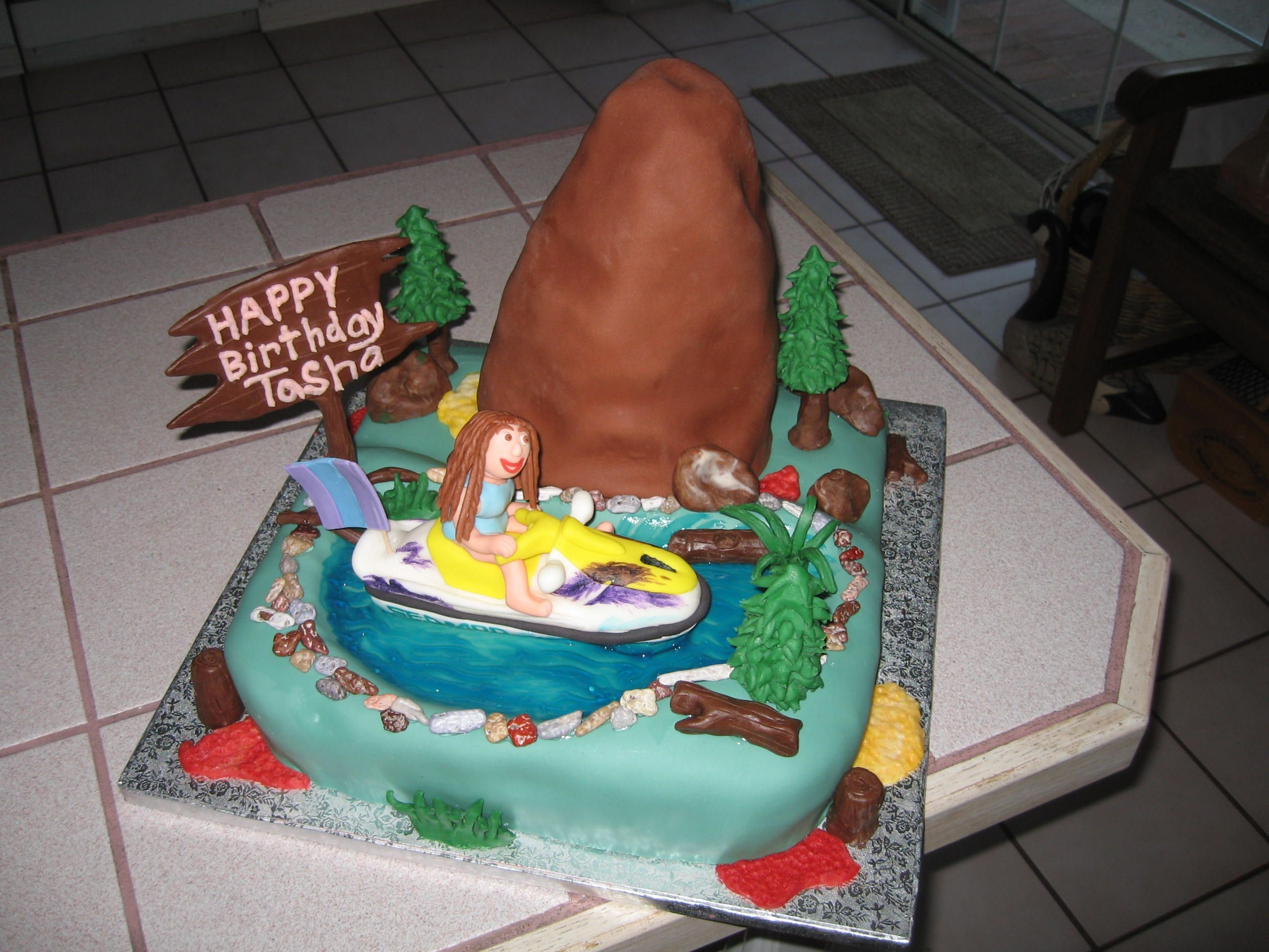 Girl On Sea Doo Birthday Cake Cake Gallery On Cake Central