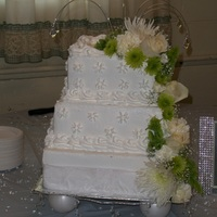 60Th Wedding Anniversary Cake White chocolate Buttercream...with fresh flowers