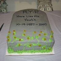 50Th Tombstone Cake