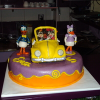 Beetle Car With Disney Characters