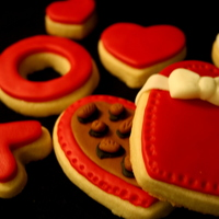 Valentine's Day Box Of Chocolates Cookie Sugar cookies and MMF. Thanks for looking!
