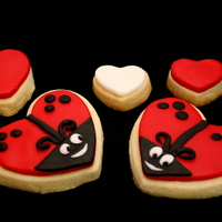 Valentines Day Love Bug Cookies Sugar Cookies with MMF.