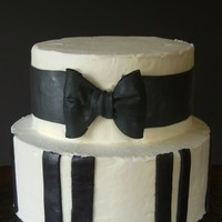 Black And White  my MMF was awful and crumbly, but once i mixed it with gumpaste it was better. too bad i did the stripes before i figured that out!fondant...