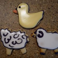 Duck Sheep Ram First attempt at decorating cookies... I have alot to learn but man was it fun!