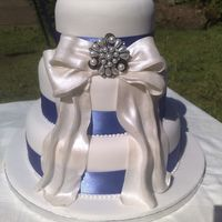 Three Tier Cake With Fondant Bow