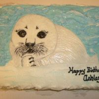 Baby Seal Birthday Cake