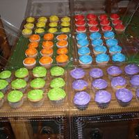 Another Order... 84 White vanilla cupcakes with luster dust, edible glitter, and colored sugar