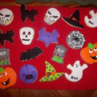 Halloween Cookies Cookies are sugar cookies with Antonia 74 royal icing with almond added for flavoring. I made these early this month for I could give to my...