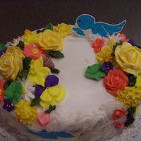 Course Ii Cake In Wilton Classes I made this back in April for my course II class in Wilton. These were my first royal icing flowers, which I had so much fun doing. The...