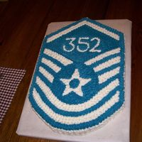 Master Sergeant Promotion Cake I made this cake for a friend who had just found out she'd been promoted to Master Sgt in the Air Force. Her line number was 352,...