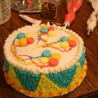 I Think My 5Th Cake Balloon cake, with pudding filling,, Not to bad for a more plainer cake LOL