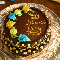 6Th Cake The Fathers Day Cake i like the top but not the sides, did strings for first time
