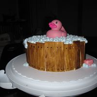 Ducky Bathtub Cake