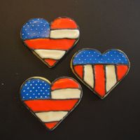 Fourth Of July Cookies NFSC with Royal Icing. I had a lot of fun making these and I got a lot of ideas from different decorators here at CC. Thank you so much!...