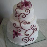 Burgundy Wedding Cake   Thank you for looking :-)