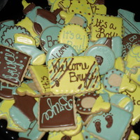 Cookie Platter For A Baby Boy's Shower